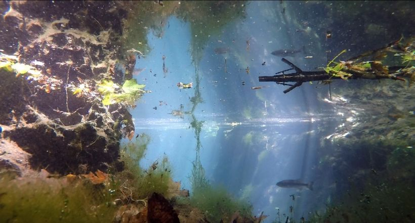 pothole underwater